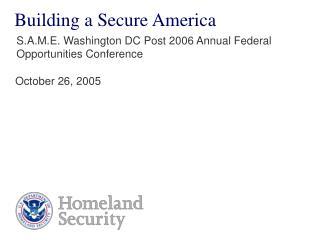 Building a Secure America