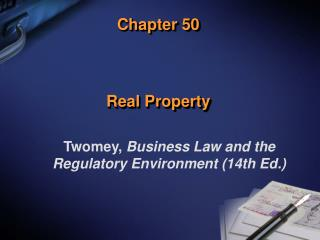 Chapter 50 Real Property