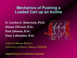 Mechanics of Pushing a Loaded Cart up an Incline