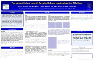 Your poster title here – usually formatted in lower case (preferred) or 'Title Case'