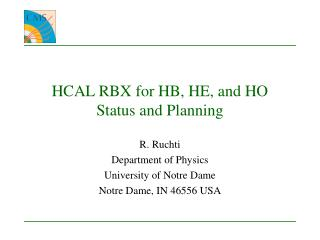 HCAL RBX for HB, HE, and HO  Status and Planning
