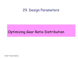 29. Design Parameters