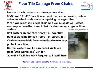 Floor Tile Damage From Chairs