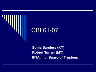 CBI 61-07