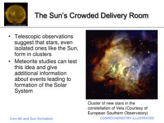 The Sun's Crowded Delivery Room