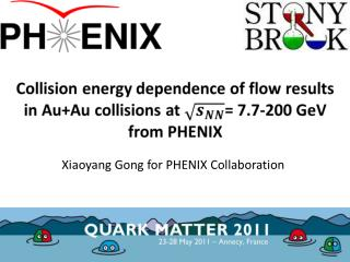 Xiaoyang Gong for PHENIX Collaboration