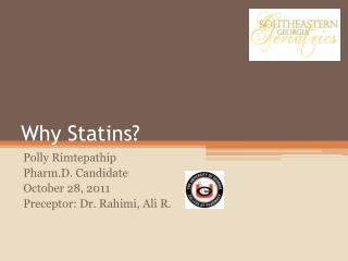 Why Statins