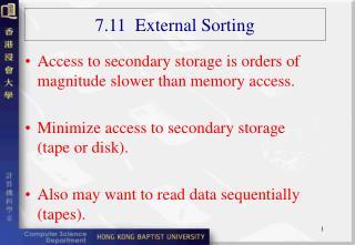 7.11  External Sorting