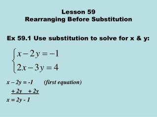 Lesson 59 Rearranging Before Substitution