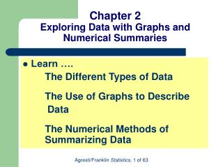 Chapter 2 Exploring Data with Graphs and Numerical Summaries