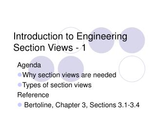 Introduction to Engineering Section Views - 1