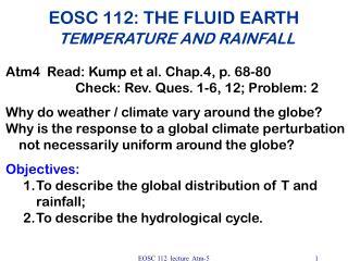 EOSC 112: THE FLUID EARTH