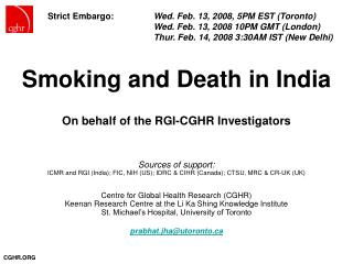 Smoking and Death in India