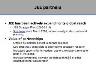 JEE partners