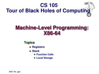 Machine-Level Programming: X86-64