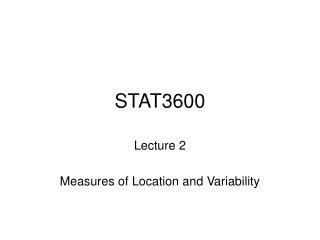STAT3600