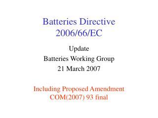 Batteries Directive 2006/66/EC