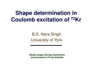 Shape determination in Coulomb excitation of  72 Kr