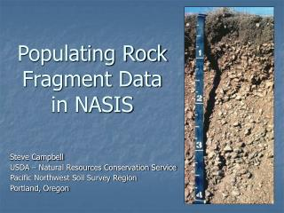 Populating Rock Fragment Data in NASIS