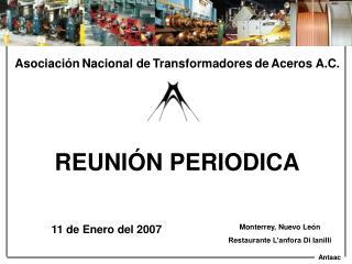 Asociaci n Nacional de Transformadores de Aceros A.C.