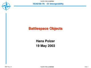 Battlespace Objects