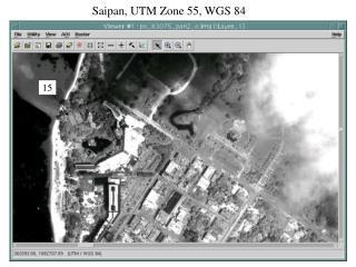 Saipan, UTM Zone 55, WGS 84