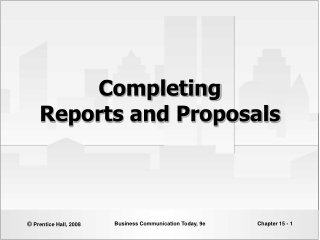 Writing Reports  Proposals 15