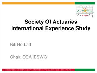 Society Of Actuaries International Experience Study