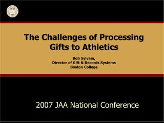 2007 JAA National Conference