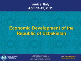 Economic Development of the Republic of Uzbekistan