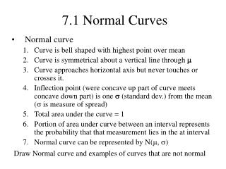 7.1 Normal Curves
