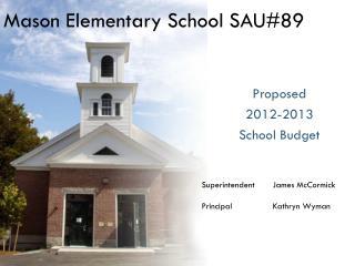 Mason Elementary School SAU#89