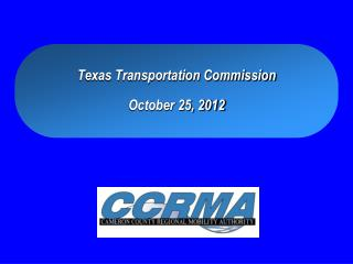 Texas Transportation Commission October 25, 2012