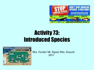 Activity 73: Introduced Species