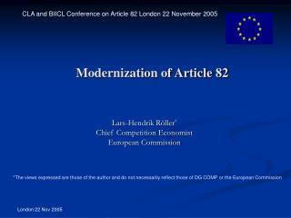 Modernization of Article 82