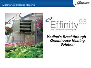Modine Greenhouse Heating
