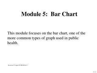 Module 5:   Bar Chart
