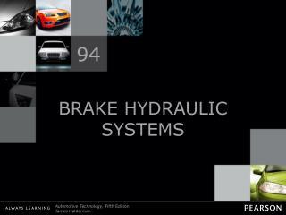 BRAKE HYDRAULIC SYSTEMS
