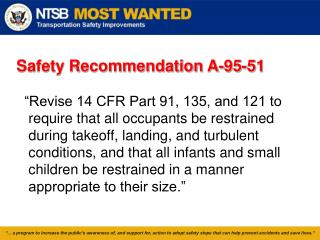 Safety Recommendation A-95-51
