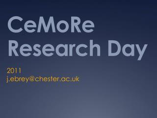 CeMoRe Research Day