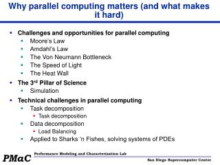 Why parallel computing matters (and what makes it hard)