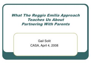 What The Reggio Emilia Approach Teaches Us About  Partnering With Parents