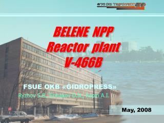 BELENE  NPP  Reactor  plant   V-466B