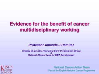 Evidence for the benefit of cancer multidisciplinary working