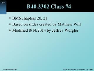B40.2302 Class #4