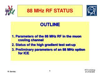 88 MHz RF STATUS