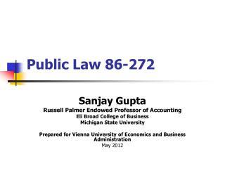 Public Law 86-272