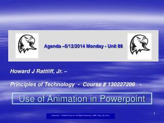 Agenda –5/12/2014 Monday - Unit 88