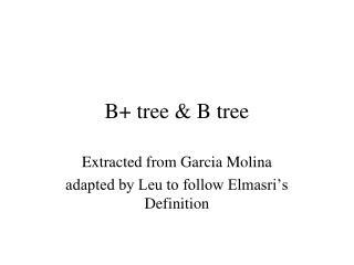B+ tree & B tree