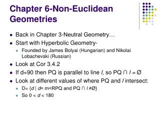 Chapter 6-Non-Euclidean Geometries